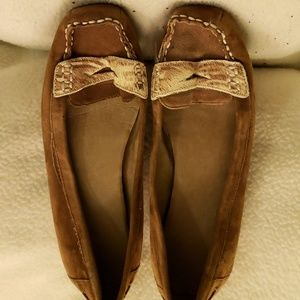 Brown Suede flats by Jessica size 6 1/2B